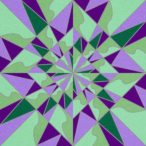Modulo Art Square Grid Design Pattern