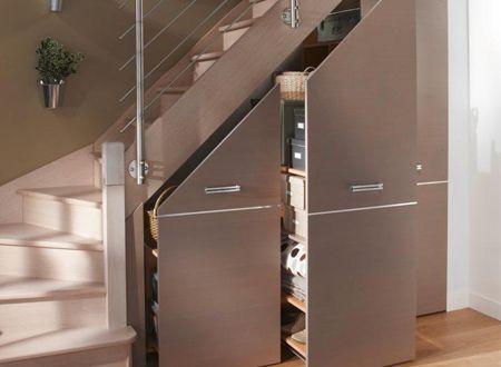 Amenager Un Espace Sous Escalier Idees Et Solutions Lapeyre Amenagement Sous Escalier Sous Escalier Meuble Sous Escalier