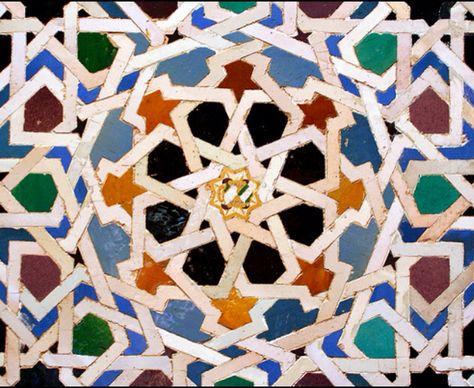 Alhambra Wall Tile Granada Spain Tureckie Plitki Puteshestviya I Plitka