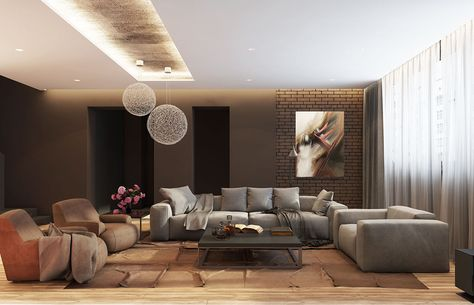 black living rooms ideas & inspiration http://snip.ly/qtrx, Innedesign