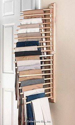 Wandmontage Broek Pant Closet Organisatie Rack van Collections Etc. - Nactumu Wall Mount Trouser Pant Closet Organization Rack from Collections Etc.<br> Wandmontage Broek Pant Closet Organisatie Rack van Collections Etc.