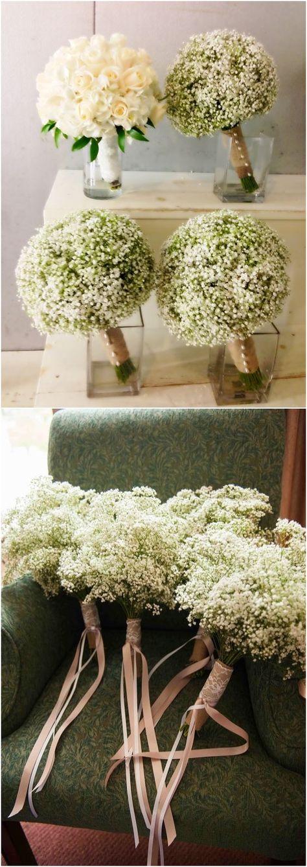 Rustic baby's breath wedding decor ideas #wedding #weddingideas #weddinginspiration