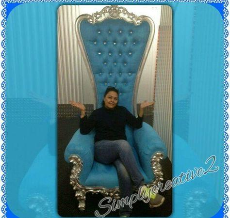 Light Blue Kings Throne Chair Rental Baby Shower Chair Baby Shower Decorations King Throne Chair