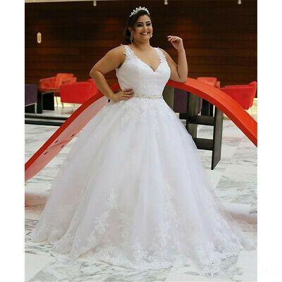 Abiti Da Sera Economici Ebay.Ad Ebay Plus Size Ball Gown Wedding Dresses Sleeveless V Neck