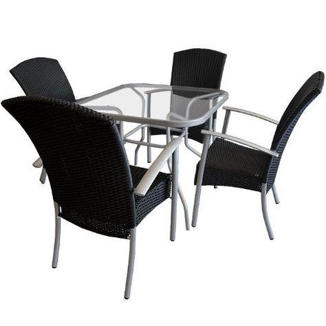 NOBLESSE Palermo L, Gartenmöbel Rattan 6 Sessel, 1 Tisch braun - rattan gartenmobel braun