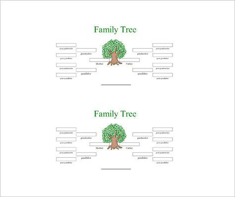 Four Generation Family Tree Template 10 Free Word Excel