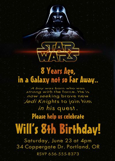 great wordingtoo bad he wants to be a Storm Trooper lol – Star Wars Birthday Invitation Wording