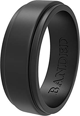 Amazon Com Banded Glory Silicone Wedding Ring Rubber Wedding Bands For Men Women Skin Saf Rubber Rings Wedding Rubber Wedding Band Silicone Wedding Rings