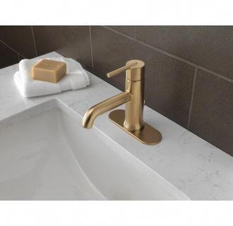 Delta 559lf Mpu With Images Brass Bathroom Faucets Brass Bathroom Fixtures Single Handle Bathroom Faucet