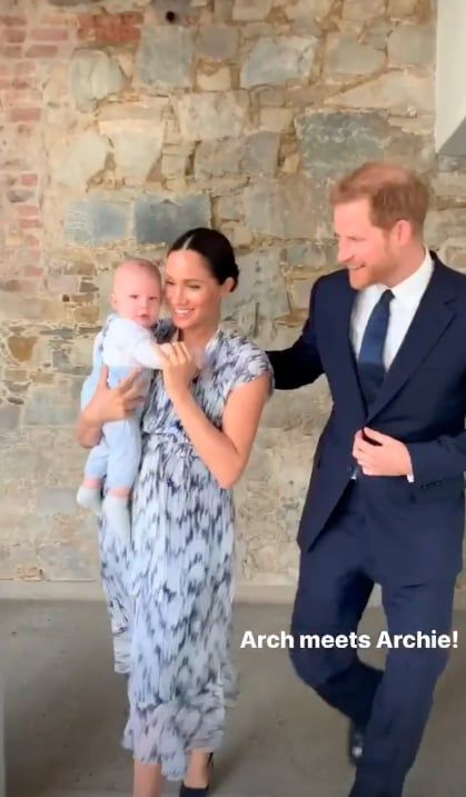 Archie Mountbatten Windsor Was All Smiles And Giggles On His Royal Tour Debut Prince Harry And Meghan Prince Harry Prince Harry And Megan