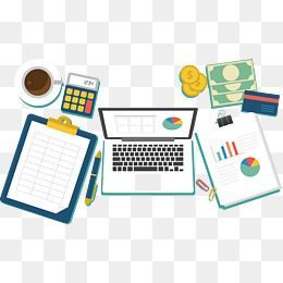 Financial Accounting Desk Vector Png Desk Finance Png And