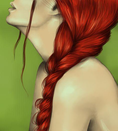 Cabello rojo. by Rafushoo.deviantart.com on @deviantART