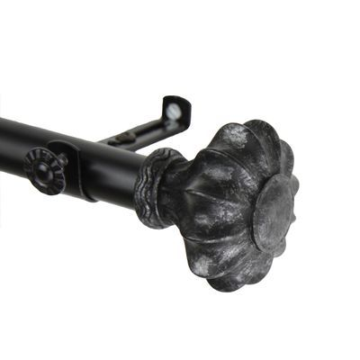 Clove Black Curtain Rod