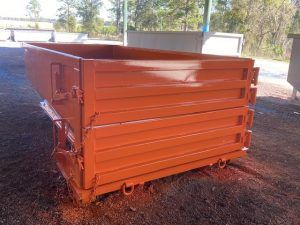 Double Door 15 Yard Roll Off Construction Dumpster For Sale Cedar Manufacturing In 2020 Double Doors Yard Dumpster