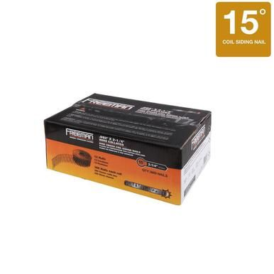 Freeman 2-1\/2 in x 92 in 15-Degree Wire Collated Galvanized - 2 1 degree