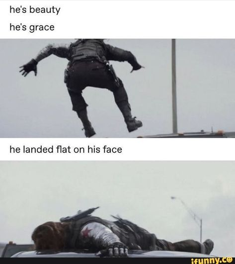 Bucky - The Winter Soldier Funny Marvel Memes, Marvel Jokes, Dc Memes, Avengers Memes, Marvel Avengers, Marvel Comics, Avengers Characters, Bucky Barnes, Winter Soldier