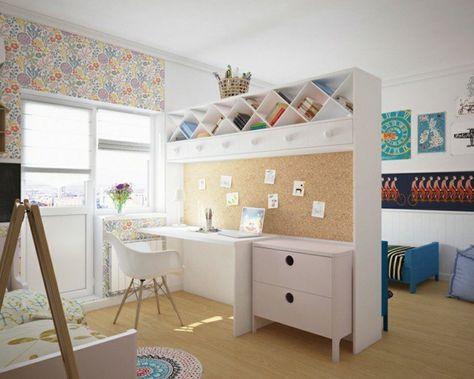 Une paroi bureau pour séparer la pièce en deux chambre chambre