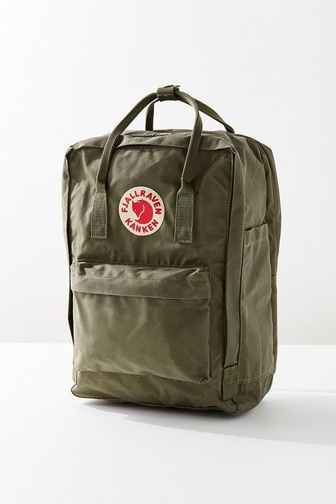 Urban Outfitters Fjallraven Kanken Padded Laptop Backpack - Olive One Size