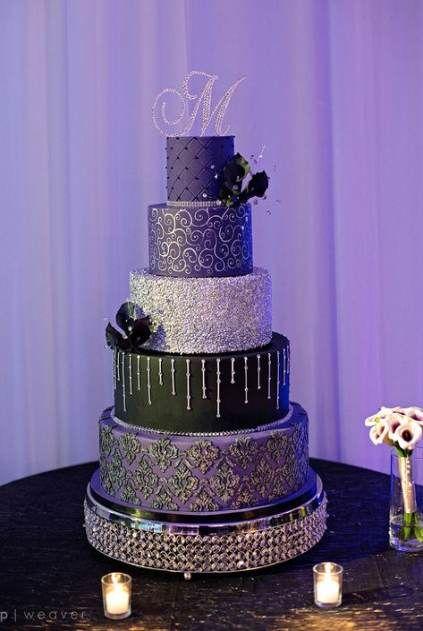 22 Super Ideas Wedding Cakes Purple Black Wedding In 2020