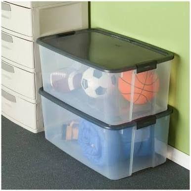 115 Qt Storage Container Clear Storage Bins Storage Bin Sterilite