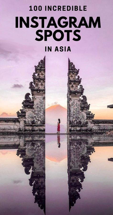 100 Incredible Instagram Spots in Asia! From Armenia to Japan here are 100 amazing photo spots to take instagrammable photos of across Asia. Pack your camera and get ready to up your instagram feeds and make all your friends jealous of your travel photos! #instagramasia #asia #travelphotography via @MyTravelScrapbook