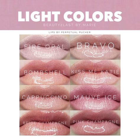 Soft light LipSense colors. Great worn alone for everyday wear, or mixed or layered with other colors to tone down bolder colors