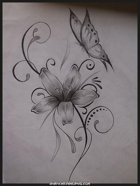 Motive schmetterling tattoo blumen Tattoo Schmetterling
