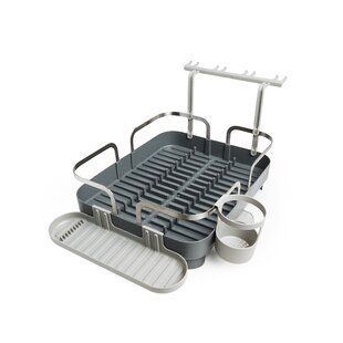 Wenko Inc Corner Stainless Steel Dish Rack Wayfair Dishracks Wenko Inc Corner Stainless Steel Dish Rack Wayf Dish Racks Stainless Steel Countertops Dishes