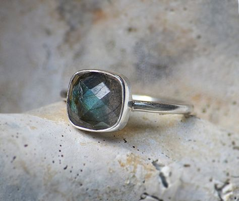 Labradorite ring sterling silver ring statement by DaniqueJewelry
