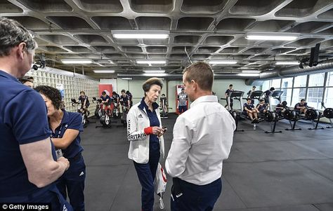 The Princess also met athletes from the Minas Tennis Clube where Team GB's boxing, fencing, judo, table tennis, marathon swimming and taekwondo athletes have also been practising