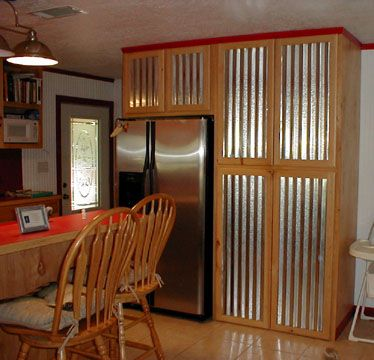 kitchen cabinets with tin please click on the thumbnails for a higher quality photo now weu0027re cookin pinterest kitchens corrugated metal and cabin