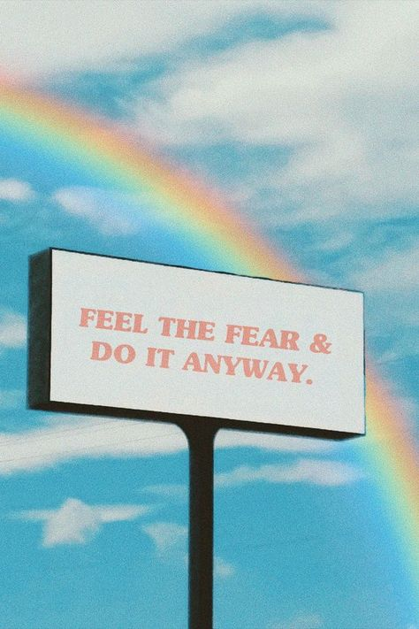 Feel the fear and do it anyway billboard wall art print quotes quotes deep quotes funny quotes inspirational quotes positive Aesthetic Pastel Wallpaper, Retro Wallpaper, Aesthetic Wallpapers, Tumblr Wallpaper, Iphone Wallpaper Quotes, Message Wallpaper, Pastel Iphone Wallpaper, Happy Wallpaper, Words Wallpaper