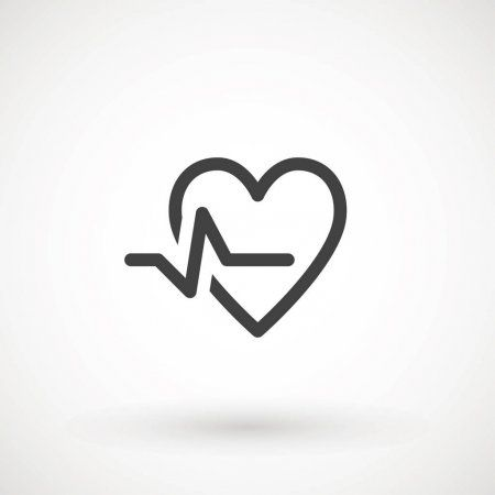 Heartbeat Heart Beat Pulse Flat Vector Icon For Medical Apps And Websites X20 Affiliate Pulse Flat Beat Heartbea Heart App Apple Icon Iphone Icon