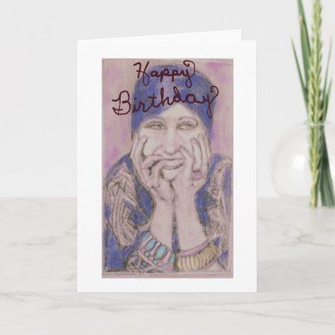 Laughing Blue Birthday Card
