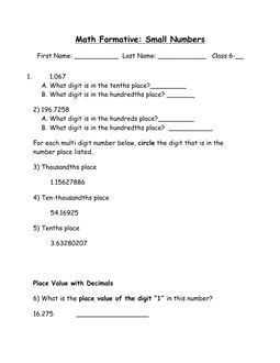 Math Small Numbers Quiz Math Math Resources How To Plan