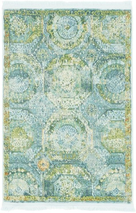 Lonerock Green/Light Blue Area Rug