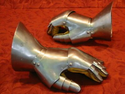 (eBay)(Sponsored) Vintage Medieval Gauntlets Perfect Armour Gloves For Historical Re-Enactment