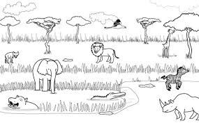 Resultado De Imagen Para Sabanas Ecosistema Para Colorear Africa Animals African Animals Animal Cartoon Video