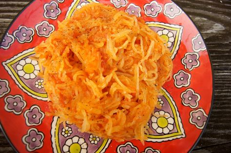 A Homemade Challenge and Spaghetti Squash with Tomato Sauce, aka FIVE MINUTE dinner.   All things considered yummy!