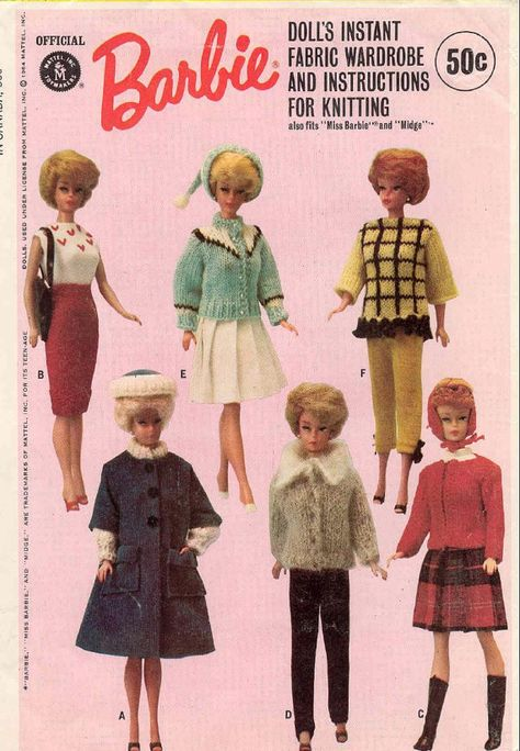 KNIT and SEW Pattern PDF for Barbie Midge other teen dolls - instant download