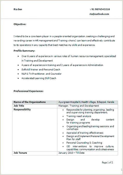 Fresher Resume Format Simple Jobs For Teachers Business Plan