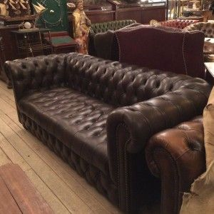 Chesterfield Sofas Sofa Antique Wandelantik Vintage 02284