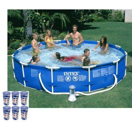 Intex 12 X 30 Metal Frame Set Swimming Pool W 530 Gph Pump Filters 28211eh Walmart Com Easy Set Pools Building A Swimming Pool Intex