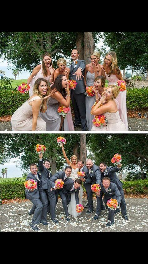 Doesn't need to be these poses, but we certainly want pictures of me with the groomsmen and Nosh with the bridesmaids