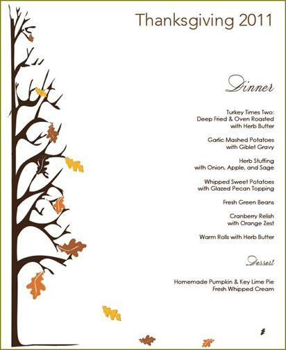 Thanksgiving Menu Template - 27+ Free PSD, EPS Format Download