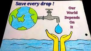 Image Result For Save Water Drawing For Kid Save Water Poster Drawing Save Water Poster Poster Drawing