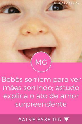 Bebê Sorrindo Bebês Sorriem Para Ver Mães Sorrindo Estudo