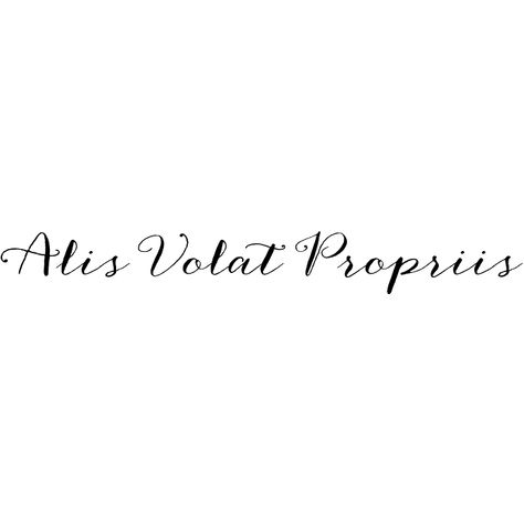 alis volat propriis   she flies with her own wings. #latin