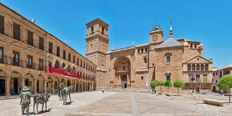 Photographic Print Plaza Mayor And San Andres Church In
