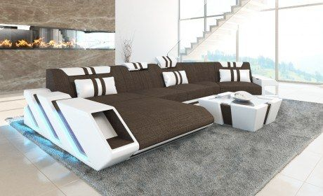 Modern Sectional Sofa New Jersey With Recamiere Hugo 8 Brown